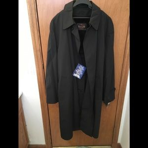 Man' black trench coat
